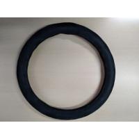 Оплетка на рулевое колесо, Автолидер, М(37-39см), (спонж,ромб,черый,), красн.упаковка