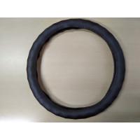 Оплетка на рулевое колесо, Автолидер, М(37-39см), (коричневый,волна,экокожа), красн.упаковка