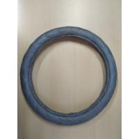 Оплетка на рулевое колесо, Автолидер, М(37-39см), (спонж,ромб,серый), красн.упаковка