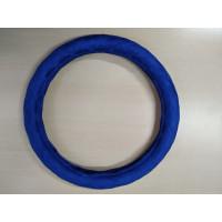 Оплетка на рулевое колесо, Автолидер, М(37-39см), (спонж,ромб,синий), красн.упаковка
