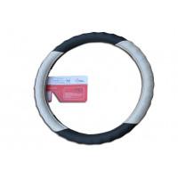 Оплетка на рулевое колесо Волна, кожа, шоколад + бежевый крокодил , размер М (GD-018)