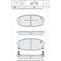 Колодки тормозные дисковые INTELLI D233E KIA Cee'd 06-/ KIA Carens II 02-/ HYUNDAI i30