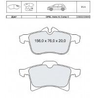 Колодки тормозные дисковые INTELLI D247E OPEL Astra H/Combo/Corsa C/D/Meriva/Zafira