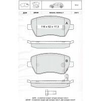 Колодки тормозные дисковые INTELLI D204E NISSAN Micra 03-/RENAULT Clio 05-/Modus 04