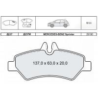 Колодки тормозные дисковые INTELLI D237EI с дат. износа M-B Sprinter 06.06