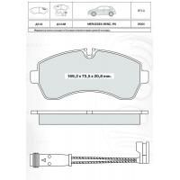 Колодки тормозные дисковые INTELLI D124EI с дат.износа Mercedes-Benz Sprinter 06-/VW Crafter 06