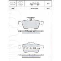 Колодки тормозные дисковые INTELLI D206E FORD Focus II/MAZDA 3/5/Citroen/Opel/Renault/Saab/Volvo