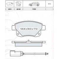 Колодки тормозные дисковые INTELLI D212EI с дат.износа FORD Transit 06