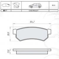 Колодки тормозные дисковые INTELLI D227E CHEVROLET Lacetti 07