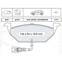 Колодки тормозные дисковые INTELLI D137E Skoda Oktavia / VW Golf IV