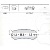 Колодки тормозные дисковые INTELLI D125E Chevrolet Lacetti 05-07/ Nubira