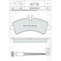 Колодки тормозные дисковые INTELLI D127E Mercedes-Benz Sprinter 06-/VW Crafter 06
