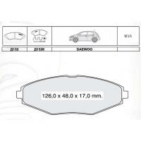 Колодки тормозные дисковые INTELLI D132E Chevrolet Lanos/Matiz/Daewoo Lanos/Matiz/Sens/CHERY QQ